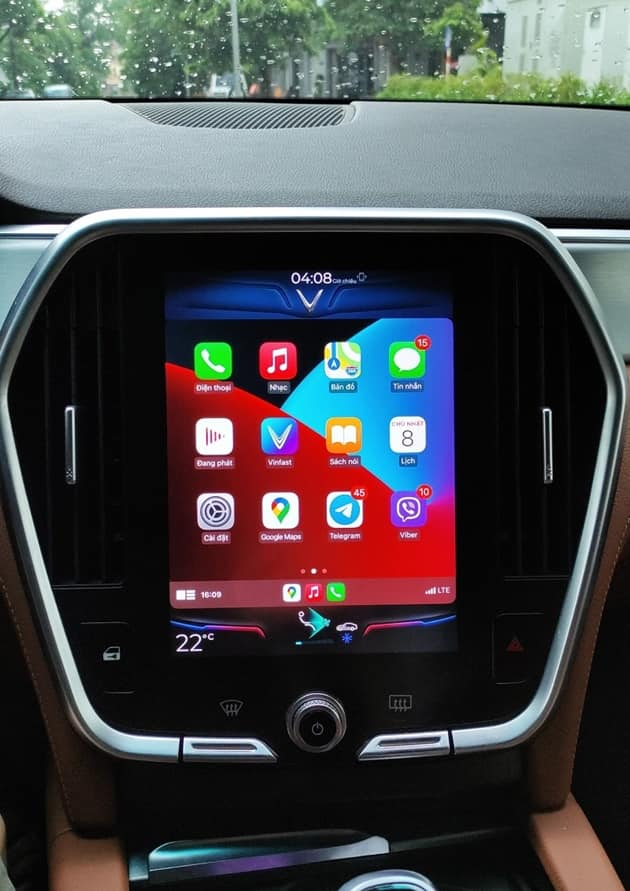 Apple CarPlay trên Vinfast Lux
