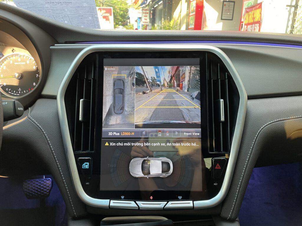 Camera 360 Safeview lắp trên màn hình android Vinfast Lux