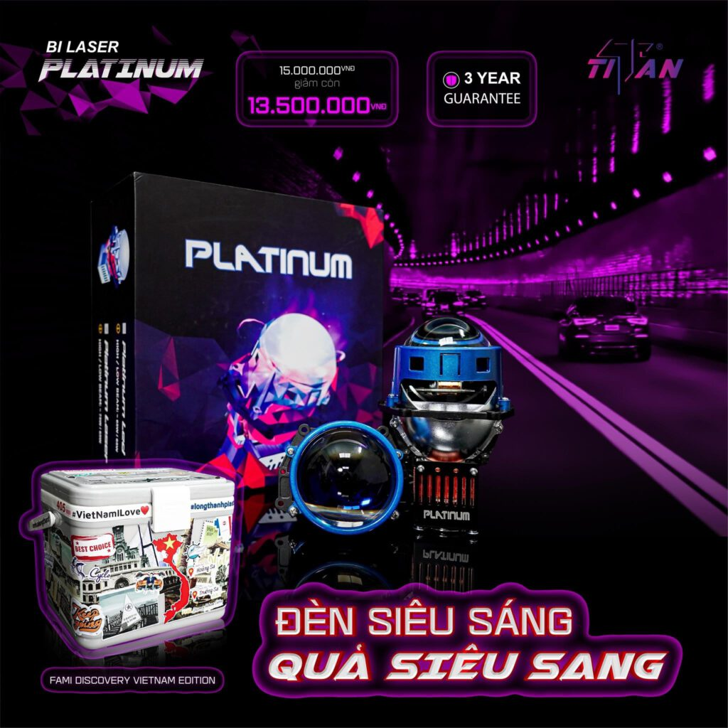 TiTan Platinum Laser sản phẩm mới được ra mắt kèm ưu đãi hấp dẫn
