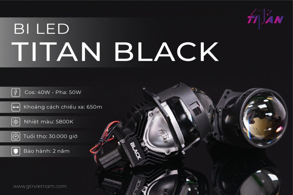 Thông số bi Led quốc dân Titan Black