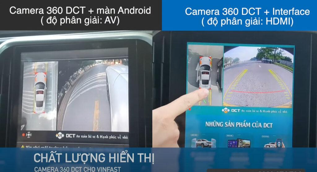 Khi so sánh Camera 360 DCT trên màn android và Camera 360 DCT LUX