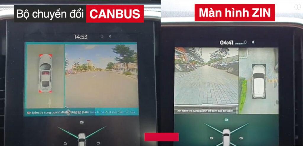 Camera 360 DCT dùng canbus và Camera zin