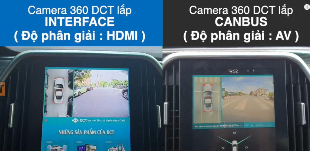 Camera 360 DCT dùng canbus và Camera 360 DCT LUX