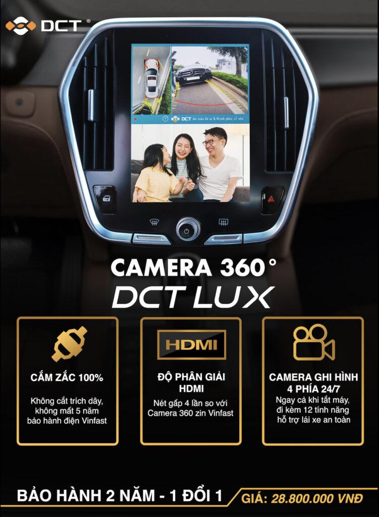 Camera 360 DCT LUX dành riêng cho xe Vinfast lắp trên màn hình zin