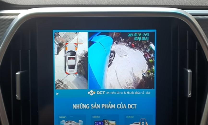 Camera 360 DCT LUX lắp trên màn hinh zin cực kì nét