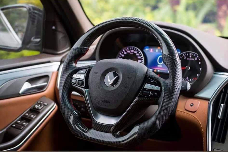 Độ vô lăng Carbon xe Vinfast Lux, Lux SA