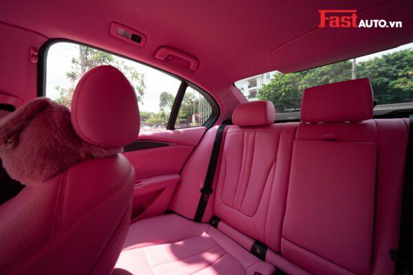 Vinfast Lux A bọc trần da nappa màu hồng