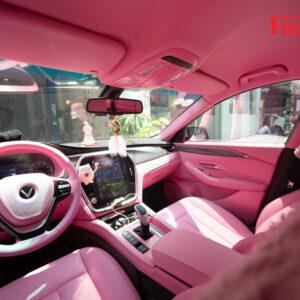 Độ nội thất màu hồng cho xe Vinfast Lux A, Lux SA