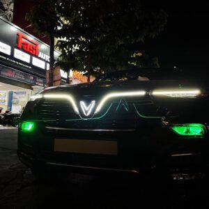 Độ đèn xe Vinfast Lux SA   Combo 4 bi laser X-Light V10L Ultra và bi led GTR G-Led X Pro
