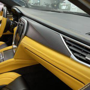 Độ nội thất xe Vinfast Lux A bọc da taplo