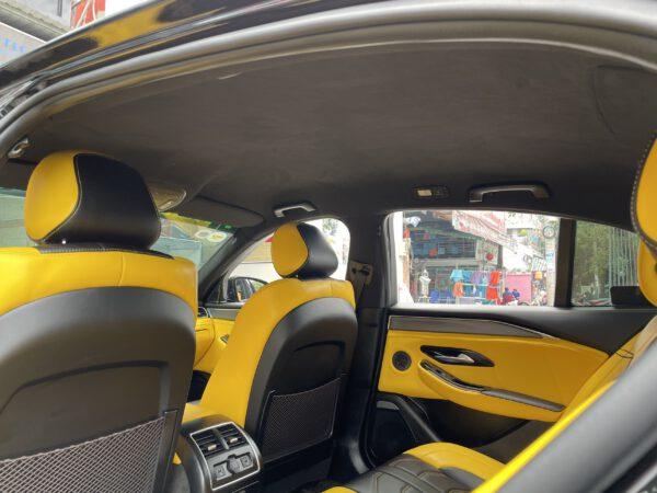 Độ nội thất xe Vinfast Lux A bọc lại trần da Alcantara