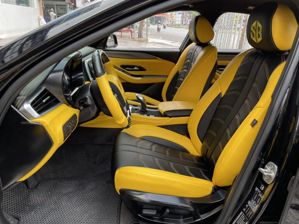 Độ nội thất xe Vinfast Lux A ghế bọc kiểu thể thao