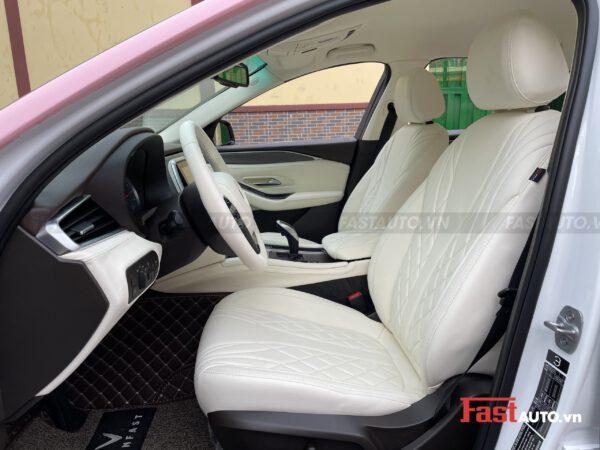 Độ nội thất Maybach cho xe Vinfast Lux A, Lux SA kiểu Maybach full trắng