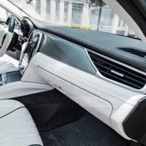 Độ nội thất Maybach cho xe Vinfast Lux A độ nội thất Maybach bọc taplo da nâu