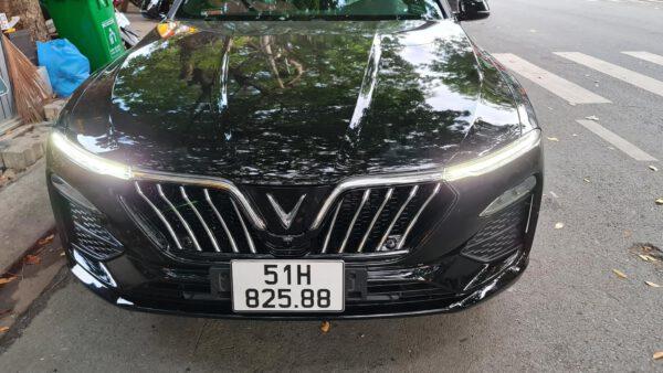 Mặt galang Vinfast Lux A mẫu Maserati mạ Crom