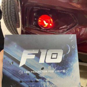 Đèn gầm F10 tích hợp mắt quỷ đỏ