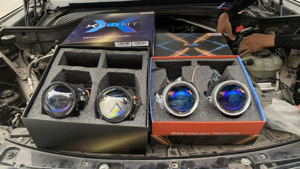 Combo 4 bi laser X-Light V10L Ultra và bi led GTR G-Led X Pro